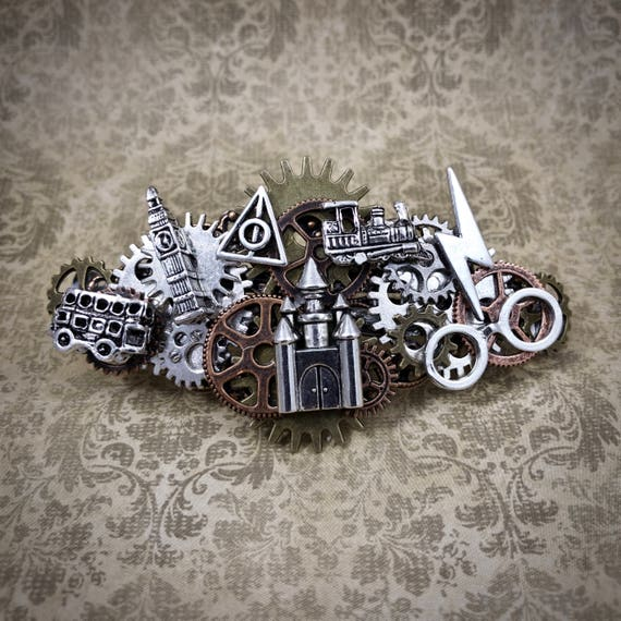 Harry Potter inspired Steampunk Barrette