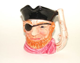 Vintage Pirate Toby Mug Pitcher Ceramic