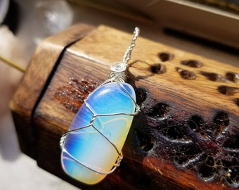 Magical Opalite Necklace for Meditation, Transformation, and Healing White Light!