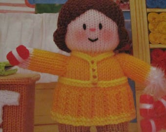 Handmade Knitted Winifred's Wool Shop Part Of The Little Dumpling Dolls Village People (New, Made To Order) 3+
