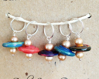 Stitch Marker Charms--Original Spirals Set of 5