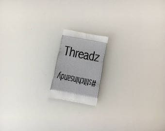 300 Custom Clothing Label, Custom woven label, Damask clothing  label, Labels for Beanies, Caps, Millinery label, custom clothing labels