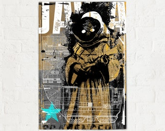 Star Wars Poster - Jawa - Star Wars Art Print, Jawa print, Poster, Fan Art, pop art, Illustration, Star Wars Art, Star Wars Gift, Art Print
