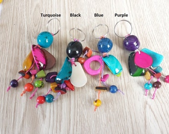 Artisan Seed Key Holder. Vibrant Colors