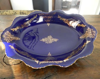 Japanese Lapis Blue Serving Plate