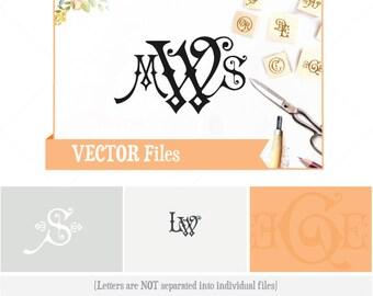 Carmencita VECTOR Alphabet: Design/ Instant Download;  .ai .eps .psd .pdf .svg .dxf .emf