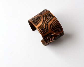 vintage copper cuff, signed copper bracelet