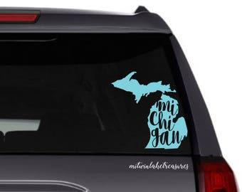 Michigan car decal | Etsy