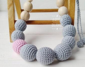 Nursing necklace Breastfeeding Babywearing Teething Baby shower Gift for newborn Lilac For girl Newborn Babyshower
