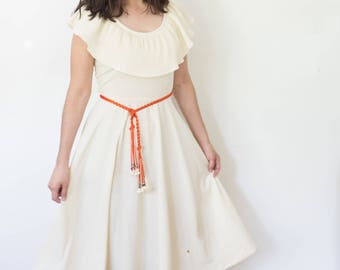 Tiki Party Dress / Retro 60's Hawaiian Dress / Women's Vintage Clothing