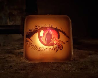 Candyman Night Light Retro Horror Decor 90s Movie Bee Wasp Creepy Scary Clive Barker Film Nightlight Plug In Slasher Movies Gift Candy Man
