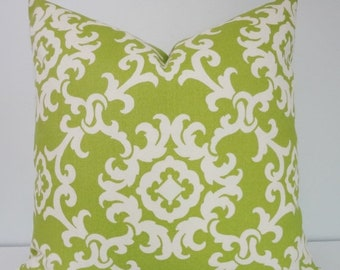 SPRING OUTDOOR SALE Outdoor Pillow Covers Green Suzani Print Porch Pillows Deck Pillow 18x18