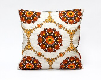 Mid Century Decorative Pillow | Retro Cushion Cover | Couch Pillow | Throw Pillow Cover 16 x16 | Handmade from Vintage Fabric by EllaOsix