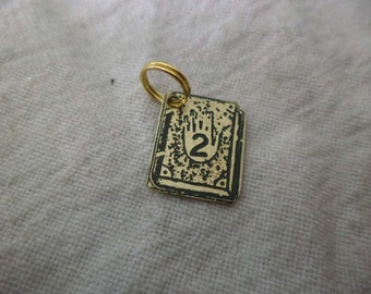 Gravity Falls Journals Etched Brass Charm