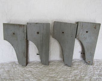 4 Vintage Wood Brackets SALE