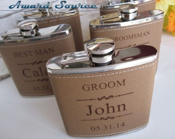 3 Personalized Wedding Flask