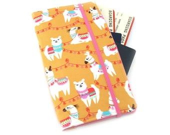 Orange Llama Travel Wallet, passport holder, family travel wallet, travel organizer, passport wallet, document holder