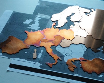 Custom Copper Map of your location