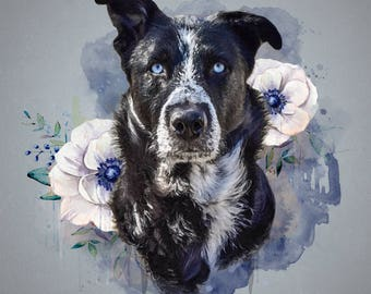 Digital Watercolor Portraits