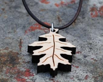 Oak Leaf Necklace Nature Accessory