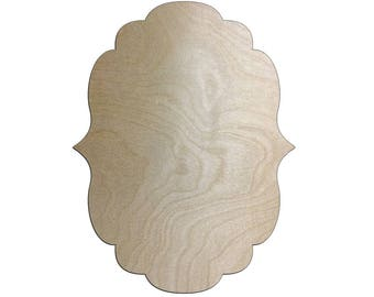 Unfinished Wood Scallop Points Plaque shape 23 inch tall x 17.5 inch wide