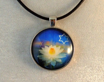 Glass Pendant - Star of David