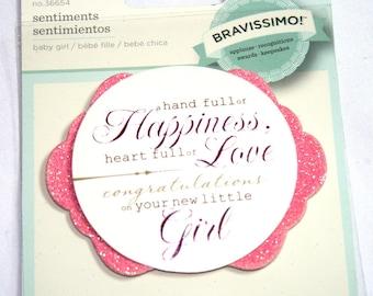 Bravissimo Sentiment Pink Baby Girl Embellishment from Making Memories