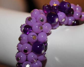 Purple Beaded Jewelry, Purple Beaded Bracelet, Purple Pearl Bracelet, Purple Pearl Jewelry, Bracelet Purple Pearl, Jewelry Purple Pearl