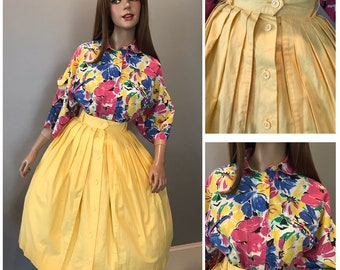 80's does 50's skirt and designer top, buy one or both-Small-Med