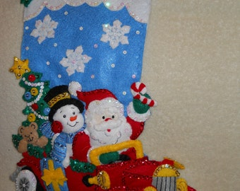 "Bucilla ""Holiday Drive"" Finished Felt Stocking"
