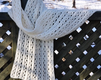 Winter White Lace Scarf