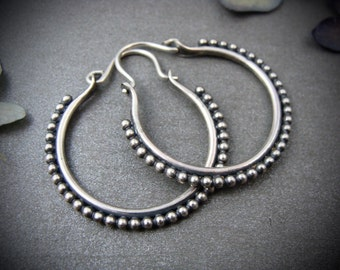 small fusion ... sterling silver hoops