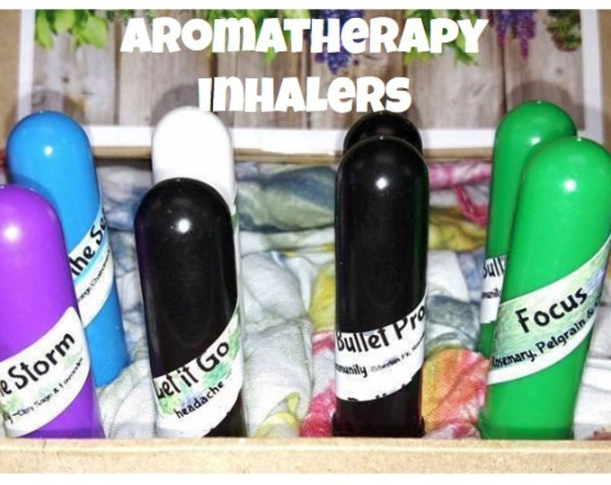 Aromatherapy Inhalers for General Well being Ravinsara, Tea Tree, Fir, Sweet Orange, Peppermint, Chamomile comes with a shrink band