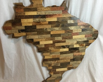 Brazil - Cut Out -Wood Wall Art - Made to Order