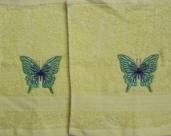 Spring Butterfly Washcloth Set