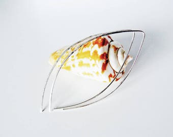 Sterling silver Pierced earrings, earrings minimalist, silver hoops Open, geometric, present, gift for her, thin hoop earrings