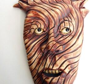 The Devil Made Me Do it Ceramic Mask