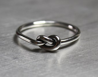 Silver Knot Ring, Silver Ring, Promise Ring
