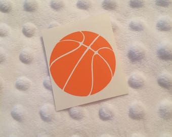 Basketball Decal - Vinyl Basketball Decal - Basketball Player Gift - Basketball Car Decal - Basketball Water Bottle Decal - Laptop Decal