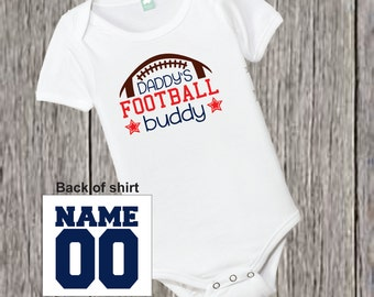 Personalized  Daddy Football Buddy Shirt Choose Team Colors