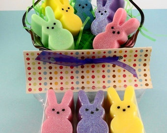 Easter Bunny Soap - Easter Favors - Easter Basket Soap- Gift Package Soap - Bunnie Soap - Artisan Soap - Peep Like Soap  - Bunny Soap