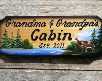 Personalized wood signs, Wedding Gift, Cabin Sign Home Decor House Signs Custom Carved Wood Signs Camping Signs Lake House Signs Fathers Day