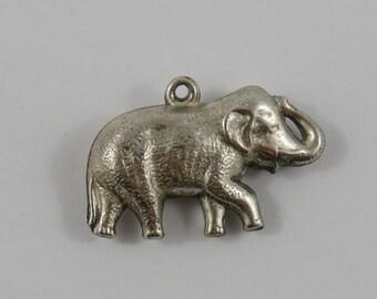 Elephant Sterling Silver Vintage Charm For Bracelet