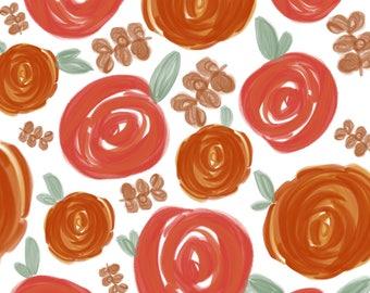 Watercolor Roses Print