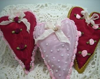 Shabby Chic Lavender filled Valentine heart sachet, Valentine's day, Mothers' Day