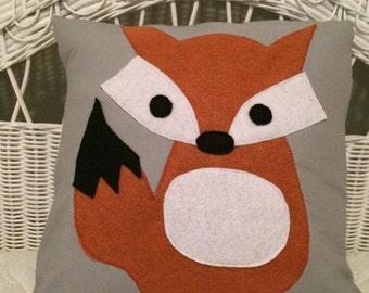 Fox Pillow Cover, Nursery Pillow Cover, Little Fox Pillow Cover, Fox Nursery Pillow Cover