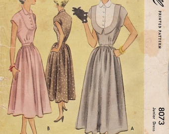 McCall 8073 / Vintage 50s Sewing Pattern / Dress / Size 15 Bust 33