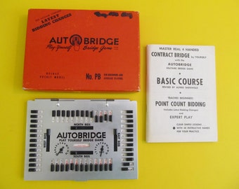 Auto Bridge, Autobridge, Games, Bridge Games, Bridge, Vintage Games, Card Games, Cards