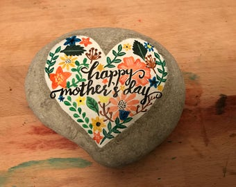 Happy Mother's Day handpainted pebble