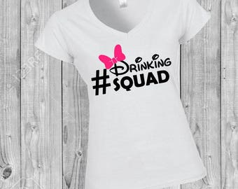 Disney shirt, Food and Wine, Epcot, women's shirt, matching shirts, group shirts, drinking, Drinking Squad